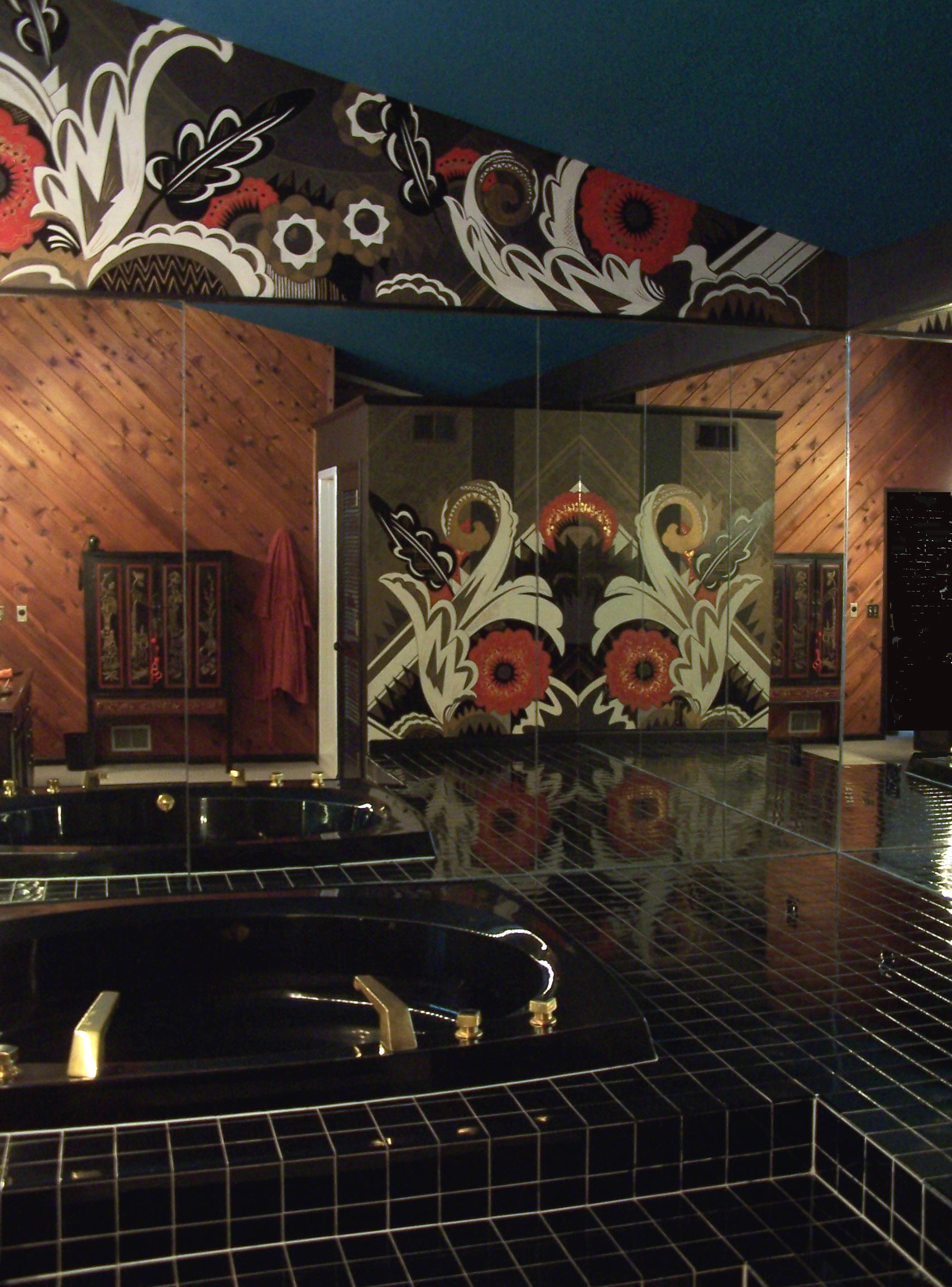 Pin art deco mural this is metal and stone on pinterest for Deco metal mural